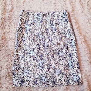 Ann Taylor Printed Pencil Skirt Career